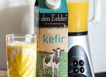 Kefir smoothie geel fruit