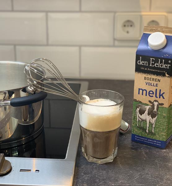Cappuccino maken zonder melkopschuimer!