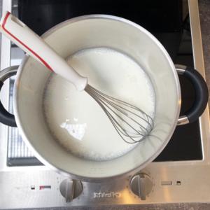 melk in pan